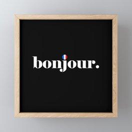 Bonjour Framed Mini Art Print