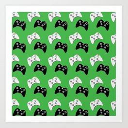 Video Game Controllers Art Print