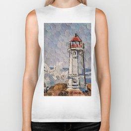 """"""" Lighthouse """" Biker Tank"""