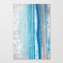 Teal Agate Canvas Print