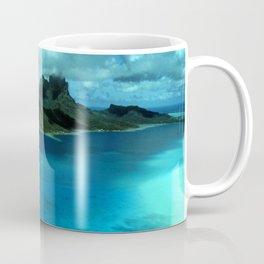 Bora Bora Lagoon Aerial Coffee Mug