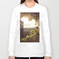 norway Long Sleeve T-shirts featuring Way, Norway by Hana Savana