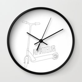 Scooter Amateur Wall Clock