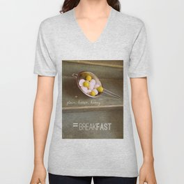 For the Love of Breakfast Unisex V-Neck