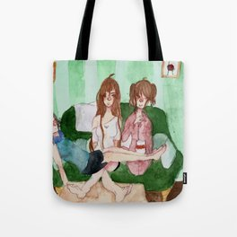 The Demon Triplets In Their Living Room Tote Bag