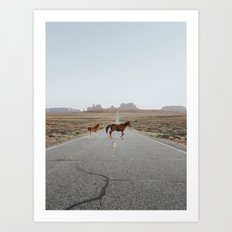Valley Horses Art Print