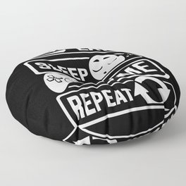 Eat Sleep Game Repeat   Video Game Console Gaming Floor Pillow
