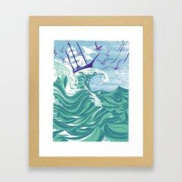 Sea Fever Framed Art Print