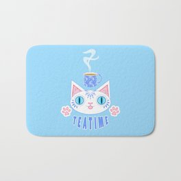Teatime Cat Loves Tea Bath Mat