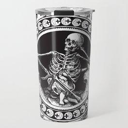 1861 Death Skeleton Black Travel Mug