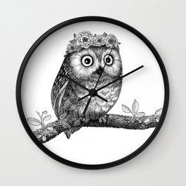 A Little Saw-whet Wall Clock