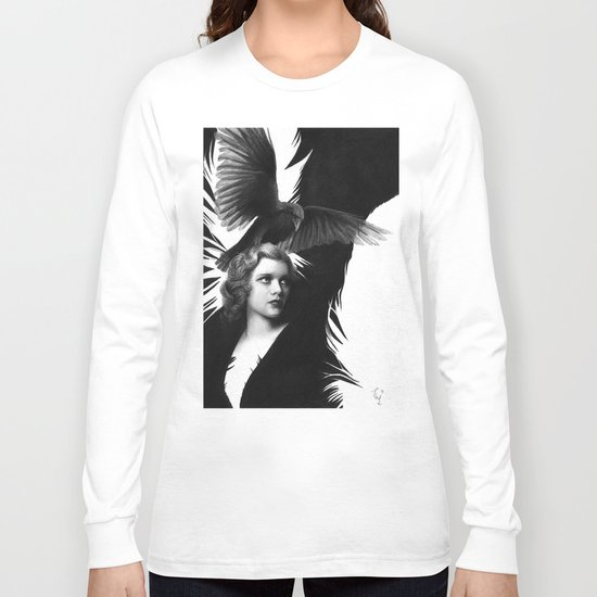 Lady and the Raven Long Sleeve T-shirt