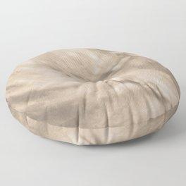 Pantone Hazelnut Flowing Pearlescent Haze, Opalescent Fluid Art Floor Pillow
