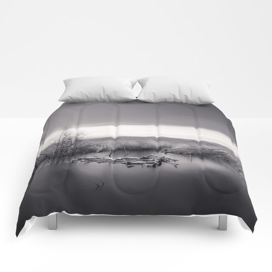 Mammoth lagoon. Monochrome Comforters