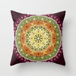 Dragonfly Mandala Throw Pillow