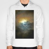vagina Hoodies featuring Solar Eclipse 2 by Aaron Carberry