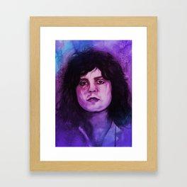 Marc Bolan - T.Rex Music Portrait Framed Art Print