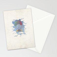 Elephant balloon Stationery Cards