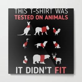Animal Testing Design Metal Print