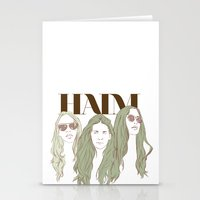 haim Stationery Cards featuring HAIM by chazstity