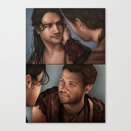 Nagron First Kiss (Spartacus) Color Version Canvas Print