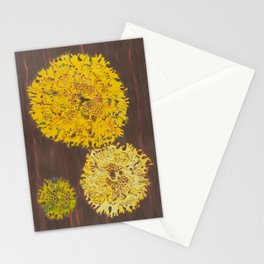 lichen in yew tree Stationery Cards