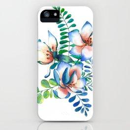 Tropical magnolia flower bouquet iPhone Case
