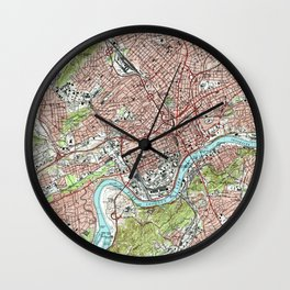 Knoxville Tennessee Map (1978) Wall Clock