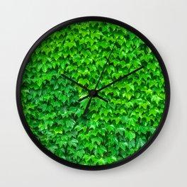 Deep Green Ivy Wall. Wall Clock