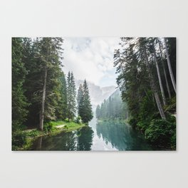 Forest Reflection in Italy Canvas Print