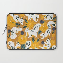 Squirrels & Blooms – Ochre Laptop Sleeve