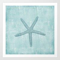 starfish Art Prints featuring Starfish by Zen and Chic