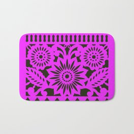 PAPEL PICADO  -  Pink & Black Bath Mat