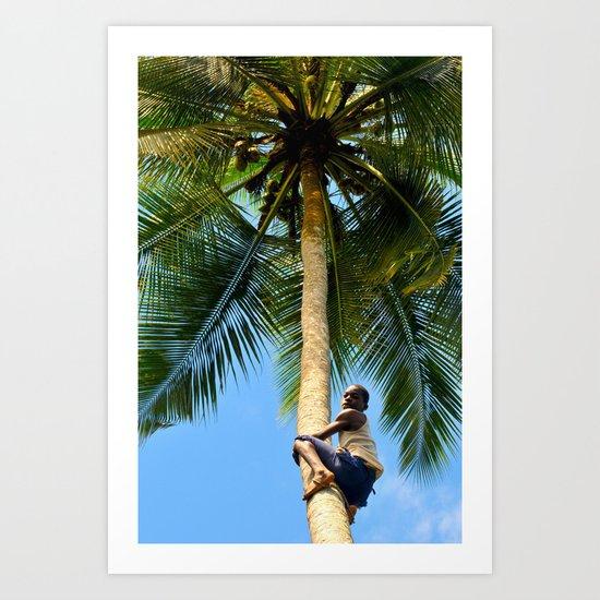 Tree climbing Art Print