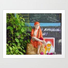 Sai Baba Art Print