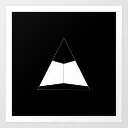 Abstraction 012 - Minimal Geometric Triangle Art Print