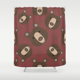 Pattern with bear Shower Curtain