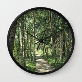 walk in the bog Wall Clock