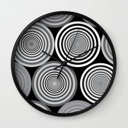 Circles and shades Wall Clock