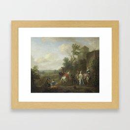 A Hunting Party, Karel van Falens, 1700 - 1733 Framed Art Print