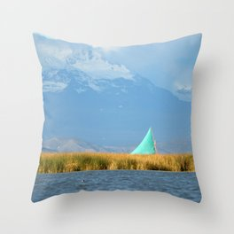 Titicaca sail 1 Throw Pillow
