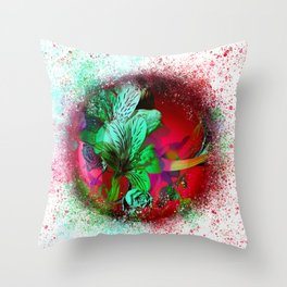 flower-orb#1 Throw Pillow
