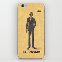 "obama iPhone & iPod Skins featuring EL OBAMA by ""dfrnt"""