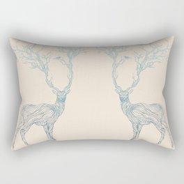 Blue Deer Rectangular Pillow
