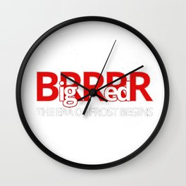 Big Red BRRR -Frost Football Wall Clock