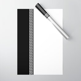 Greek Key 2 - White and Black Wrapping Paper