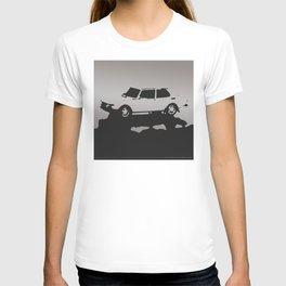 Saab 99 EMS, Gray on Black T-shirt