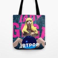 artpop Tote Bags featuring ARTPOP by Marcelo BM