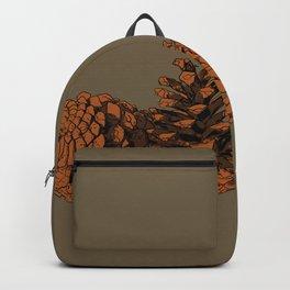 Brown on Brown Pine Cones Backpack