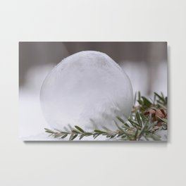 Large Frozen Bubble Metal Print